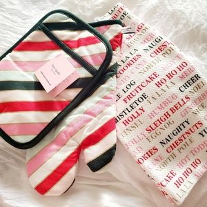 Kate Spade Holiday 3 Piece  Set Towel & 2 Mitts